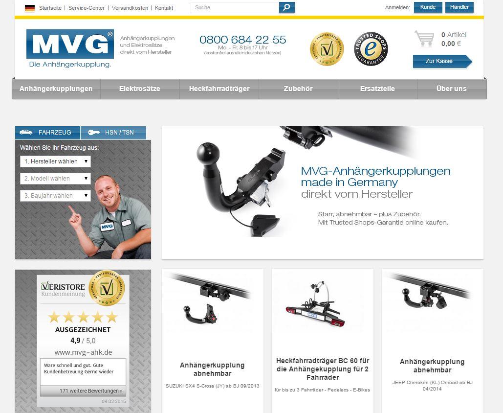 Screenshot MVG Anhängerkupplung