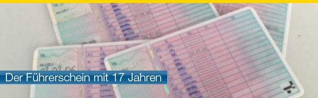 Führerschein mit 17 Jahren