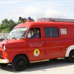 Kein Feuer, aber ein schicker Oldtimer: Der Ford Transit MK 1 wurde 1977 hergestellt.