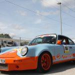 Ein echter Hingucker: Der Porsche Carrera in auffallendem Design.