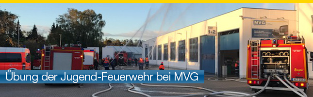 Übung der Feuerwehr bei MVG